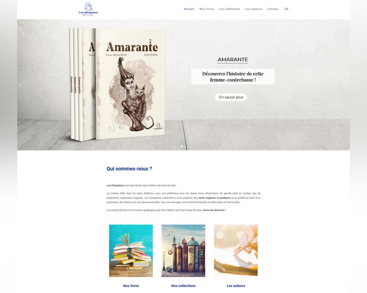 Création site web Jérémy COTTE Chiropteres editions